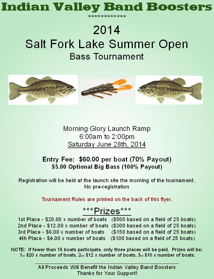 Salt fork bass open 6 28 ohio game fishing your ohio for Open bass fishing tournaments
